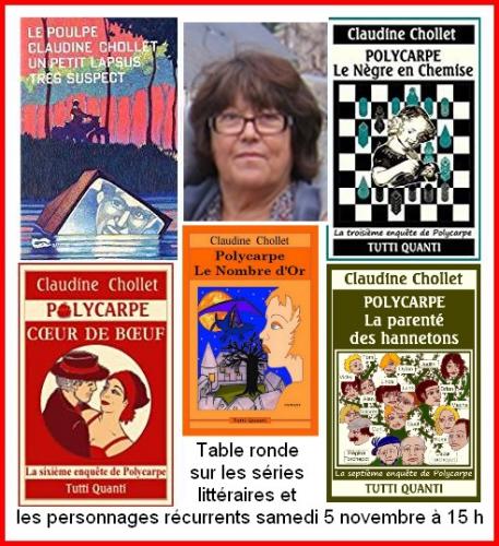 Claudine Chollet, Polycarpe, Polar sur Loire, salons, dédicaces